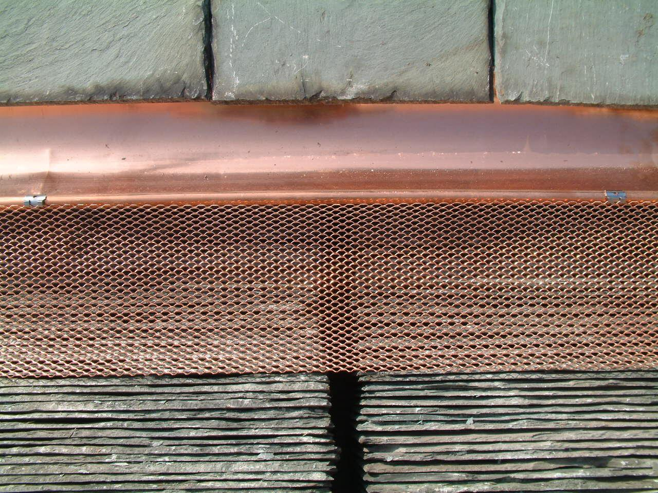 Copper Gutter Cover
